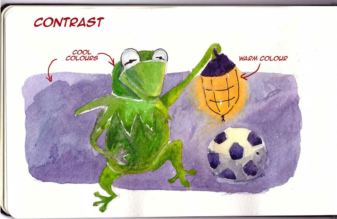 cartoon illustration contrast