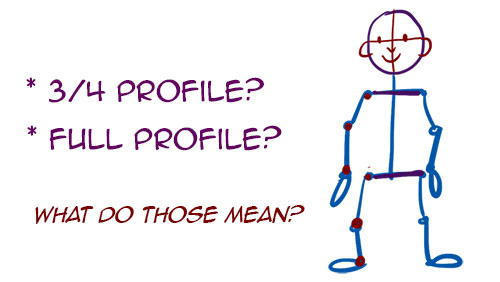 how to draw stick figure profiles